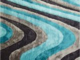 Dark Teal area Rug 5×7 Contemporary 5×7 area Rug Gray Blue