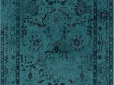 Dark Teal area Rug 5×7 oriental Weavers Revival 550h area Rug 5 3 X 7 6""""
