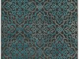 Dark Teal area Rug 5×7 Saphir Yardley 3659f In Dark Gray Marine