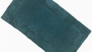 Dark Turquoise Bathroom Rugs Chunky Textured Dark Turquoise Blue Bath Rug 20×34 Cotton