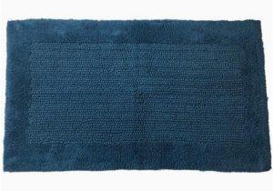 Dark Turquoise Bathroom Rugs Chunky Textured Dark Turquoise Blue Bath Rug 23×38 Cotton