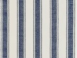 Dash and Albert Blue Rug Blue Awning Stripe Woven Cotton Rug by Dash Albert