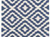 Dash and Albert Blue Rug Clover Blue Woven Cotton Rug