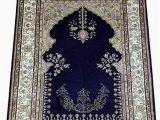 Deep Blue area Rug Amazon Yilong Carpet 2x3ft Small Handwoven Silk Persian