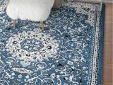 Deep Blue area Rug Deep Blue Ivory Traditional Persian area Rugs – Modern Rugs