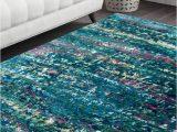 Deep Blue area Rug Deep Blue Sea Handmade Sari Silk Rug
