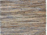 Denim and Jute area Rug Anji Mountain Jute and Recycled Denim American Graffiti Rugs
