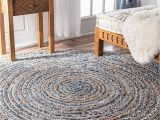 Denim and Jute area Rug Buy Avioni Denim Jeans with Jute Handmade Braided area Rugs