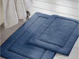 Denim Blue Bath Rug Denim Bath Mat Set Of Two order Minimize Slip