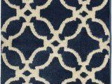 Denim Blue Bath Rug Pass Denim Blue & Brown Bath Mat