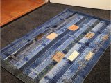 Denim Rugs Blue Jeans 17 Jeans Waistbands Made Into A Floor Rug