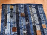 Denim Rugs Blue Jeans Unique Denim Rug Made From Repurposed Jeans Waistband Full
