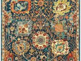 Dense Peony Tree Of Life area Rug Nuloom Floral Magen Rug