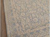 Desa Bordered Wool Rug Blue Rugsville Tile Rug Porcelain Light Blue Wool Rug