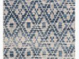 Diamond Scroll Blue Rug Ombre Diamond Blue Woven Cotton Rug Cottage Home