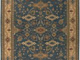 Diva at Home area Rugs Diva at Home 9 X 12 Tandoorilian Midnight Blue and Auburn