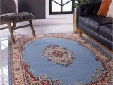 Does Roomba Work On area Rugs Unique Loom Reza area Rug 5 X 8 Light Blue