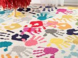 Dog Paw Print area Rugs Nuloom Machine Made Pinkie Handprint Kids area Rug Walmart
