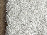 Dolce Home Luxury Chenille Bath Rug Super area Rugs Ivory White Shag Rug 2feet by 3feet 2×3