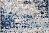 Elara Blue Gray area Rug Barreras Abstract Blue Gray area Rug