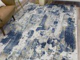 Elara Blue Gray area Rug Cosmoliving by Cosmopolitan astor Blue Gray Ivory area Rug