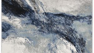 Elara Blue Gray area Rug Elara Abstract Blue Gray area Rug
