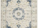 Elson Ivory Gray area Rug Elson Power Loom Ivory Blue Rug