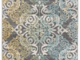 Elson Ivory Gray area Rug Mistana™ Elson Damask Gray Yellow area Rug & Reviews