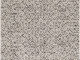 Elson Ivory Gray area Rug Variegated Triangles In Stripe formation Add A Playful Twist