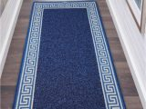 Extra Large Blue Rugs Extra Non Slip Greeky Blue & Cream Rugs Bedroom Carpets Uk