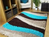 Extra Large Blue Rugs Rugs Superstore Small Extra Large Rug New Modern soft Thick Teal Blue Brown Beige Waves Shaggy Rug Non Shed Shag Runners 6 120 X 170 Cm 160 X 225