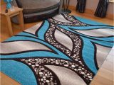 Extra Large Blue Rugs Teal Blue Light Brown Cream Modern soft Thick Rugs Small