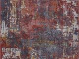 """Extra Large Rustic area Rugs Ladole Rugs Madrid Blue Dark Red Terra Abstract Indoor area Rug Carpet 7×9 6 7"""" X 9 2"""" 200cm X 280cm Rustic Brown Lgn"""