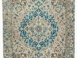 Extra Large Square area Rugs 10×12 Beige Turkish Vintage Wool area Rug 2469