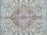 Faded Blue Persian Rug Faded Distressed Contemporary Vintage Persian area Rug Aqua