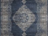Faded Blue Persian Rug Navy Blue and Silver Faded Worn Overdyed Style Rug