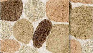"""Fall Bathroom Rug Sets Chesapeake Pebbles 2pc Khaki Bath Rug Set 21""""x34"""" & 24""""x40"""""""