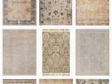 Farmhouse area Rugs Living Room Vintage Inspired area Rugs