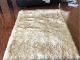 Faux Sheepskin area Rug 8×10 Lambzy Faux Sheepskin Super soft Hypoallergenic Square area Rug Plush Fur Luxury Shaggy Silky Plush Carpet for Bedrooms Rugs Living Room Kids Rooms