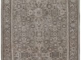 Finn Hand Knotted Rug Blue Multi Antique Persian Malayer Decorative Hand Knotted Rug In Neutral Beige and Brown