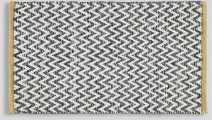 Flat Weave Bathroom Rugs Flat Weave Chevron Bath Mat 80cm X 50cm – Black