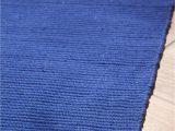Flat Weave Blue Rug solid Bright Blue Flatweave Eco Cotton Rug Hook & Loom