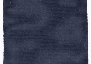 Flat Weave Blue Rug solid Navy Blue Flatweave Eco Cotton Rug Hook & Loom