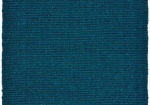 Flat Weave Blue Rug solid Teal Blue Flatweave Eco Cotton Rug