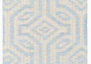 Flat Weave Blue Rug Taj Pale Geometric Handmade Flatweave Wool Sky Blue Ivory area Rug