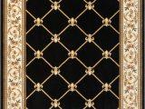 Fleur De Lis Bathroom Rug Colindale Fleur De Lis Transitional Black Beige Ivoryarea Rug