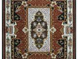 Fleur De Lis Rugs Bed Bath and Beyond Missouri oriental Handmade Tufted Wool Blue Red Black area Rug