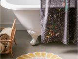 Flower Shaped Bathroom Rugs Justine Flower Bath Mat