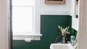 Forest Green Bathroom Rug Sets Easy Bathroom Makeover with forest Green and White Walls and