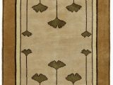 Frank Lloyd Wright Style area Rugs Ginkgo Oatmeal Wool area Rugs – Shopwright